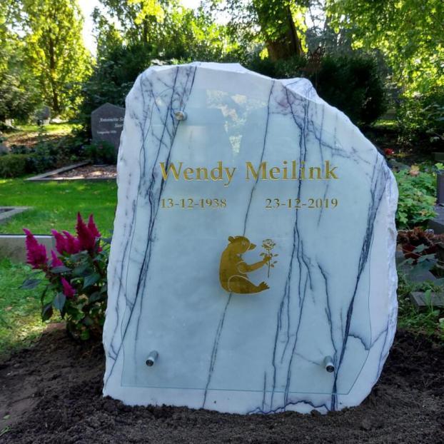 Ruwe steen wit marmer, bijzondere stenen AnnaAnna gedenktekens en grafmonumenten