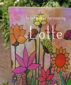 gedenkteken met glas, grafmonument met kleurijk glasfusing door AnnaAnna