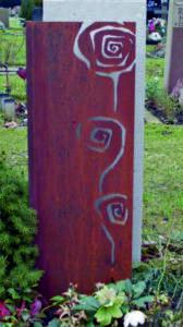 grafsteen met cortenstaal